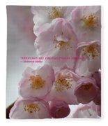 Feelings Of Flowers Fleece Blanket