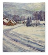 Felchville Village In The Snow Fleece Blanket