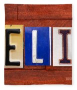 Felix License Plate Name Sign Fun Kid Room Decor Fleece Blanket