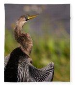 Female Anhinga Fleece Blanket