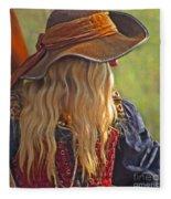 Female Pirate Fleece Blanket