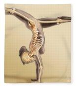 Female Skeletal System Fleece Blanket