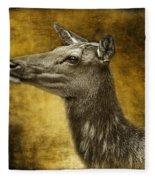 Female Yellowstone Elk Fleece Blanket