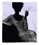 Femme Fatale C1960 Shaken Not Stirred Fleece Blanket