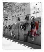 Fence At The Oklahoma City Bombing Memorial Fleece Blanket