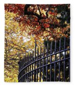 Fence At Woodlawn Cemetery Fleece Blanket