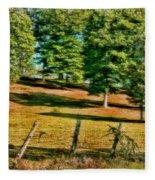 Fence - Featured In Comfortable Art Group Fleece Blanket