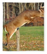 Fence Jumper Fleece Blanket