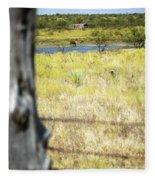 Fence Pasture Horse 14419 Fleece Blanket