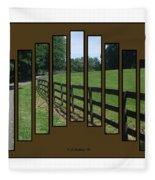 Fenced Pasture Fleece Blanket