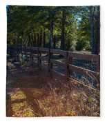 Fenceline 1 Fleece Blanket