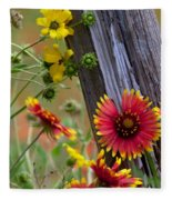 Fenceline Wildflowers Fleece Blanket