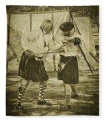 Fencing Practice Fleece Blanket
