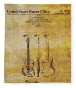 Fender Guitar Patent On Canvas Fleece Blanket