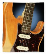 Fender Stratocaster Electric Guitar Natural Fleece Blanket