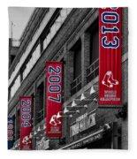 Fenway Boston Red Sox Champions Banners Fleece Blanket