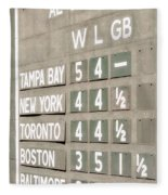 Fenway Park Al East Scoreboard Standings Fleece Blanket