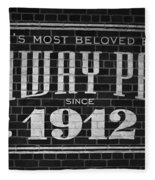 Fenway Park Boston Ma 1912 Sign Fleece Blanket