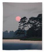 Fenwick Island Delaware Sunset Fleece Blanket