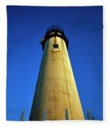 Fenwick Island Lightouse And Blue Sky Fleece Blanket
