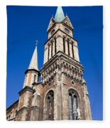 Ferencvaros Church Tower In Budapest Fleece Blanket