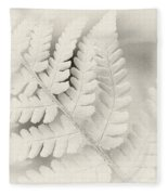 Fern Leaf Fleece Blanket