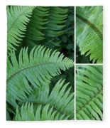 Fern Collage Fleece Blanket