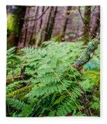 Fern In Forest Fleece Blanket