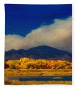 Fern Lake Fire Fleece Blanket