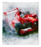 Fernando Alonso Of Spain Fleece Blanket