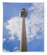 Fernsehturm Berlin Fleece Blanket