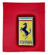 Ferrari Badge Fleece Blanket