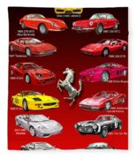 Ferrari Sports Car Poster  Fleece Blanket