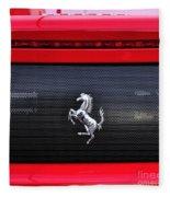 Ferrari - Rear Grill And Stallion Badge Fleece Blanket
