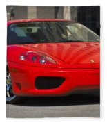 Ferrari Red Fleece Blanket