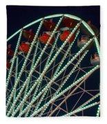 Ferris Wheel After Dark Fleece Blanket