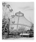 Ferris Wheel And R F P Pavilion - Spokane Washington Fleece Blanket