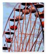 Ferris Wheel At Sunset Fleece Blanket