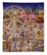 Ferris Wheel At The Carnival Fleece Blanket