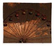 Ferris Wheel At Twilight Fleece Blanket