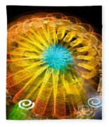 Ferris Wheel Flower Fleece Blanket