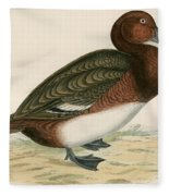 Ferruginous Duck Fleece Blanket