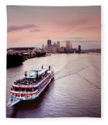 Ferry Boat At The Point In Pittsburgh Pa Fleece Blanket