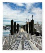 Ferry Dock Fleece Blanket