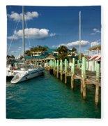 Ferry Station Paradise Island Fleece Blanket