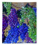 Festival Of Grapes Fleece Blanket