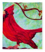Festive Cardinal Fleece Blanket