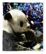 Festive Panda Fleece Blanket
