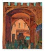 Fez Town Scene Fleece Blanket