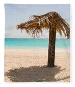 Ffryers Beach Hut Fleece Blanket